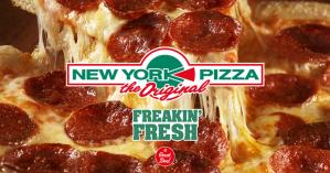 New York Pizza pizza + blikje frisdrank voor €2 in Hengelo en Oldenzijl