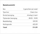 Code voor 25 euro korting op je maaltijdbox kortom €2,49 per gerecht bij MarleySpoon