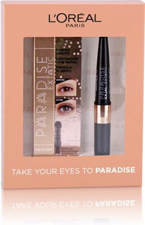 L'Oréal Paris Paradise Extatic Mascara Eyeliner Giftset - 01 Black - Make-up geschenkverpakking voor €15