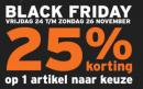 Black Friday bij Gamma met 25% korting