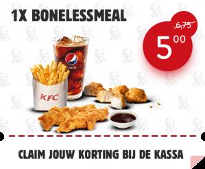 Bonelessmeal KFC voor €5