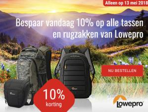 Ontvang 10% korting op alles van Lowepro