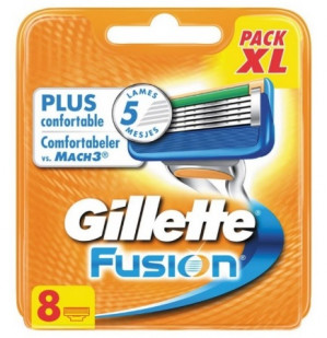 Gillette Fusion Scheermesjes 8 Pack voor €19,99