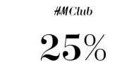 Op 1 artikel naar keuze 25% korting voor club members