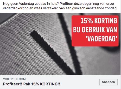 15% vaderdag korting
