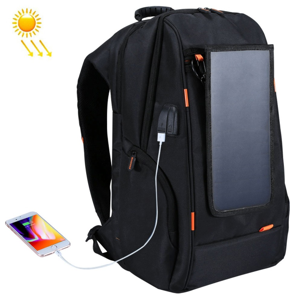 Outdoor Charging Backpack + USB Port met Solar paneel voor €21,99