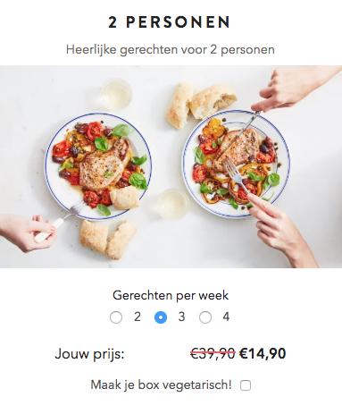 25 euro korting op je eerste box van MarleySpoon
