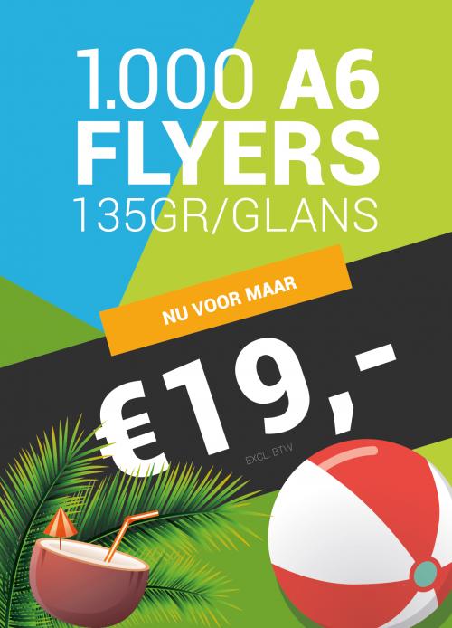 1000 A6 Flyers voor €19