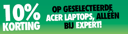 Diverse geselecteerde laptops van Acer 10% korting