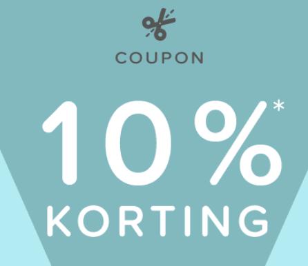 10% korting door gebruik van code