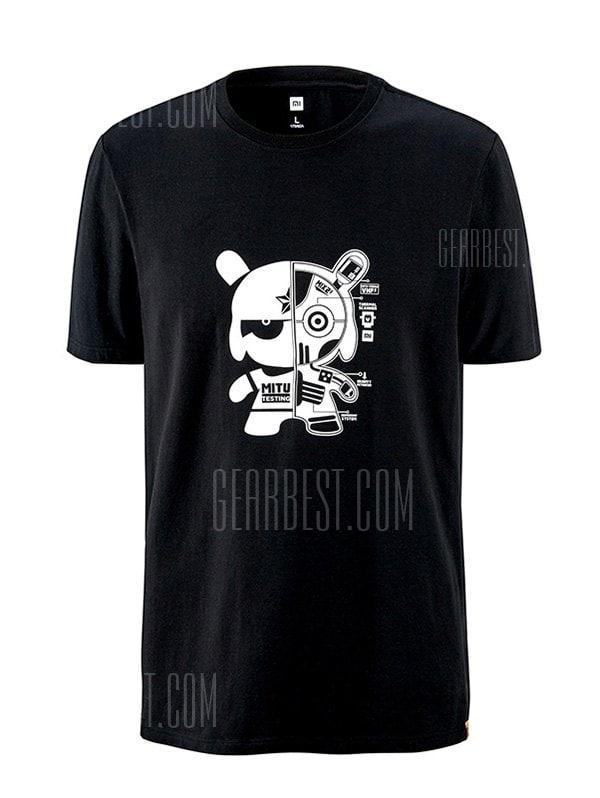 Xiaomi Leisure Cartoon Print Short Sleeve T-shirt voor €16,06