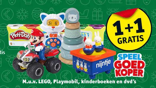 1+1 gratis op speelgoed Kruidvat België