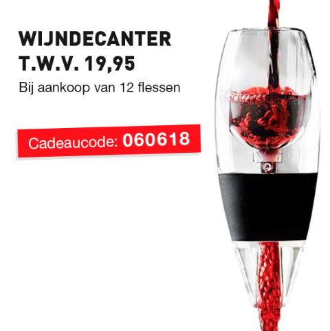 Gratis wijncadeter twv 19,95 bij je bestelling