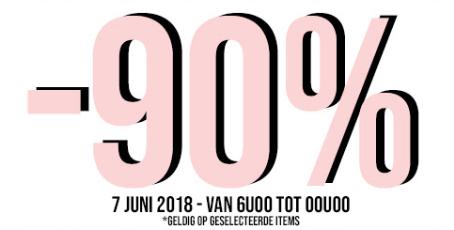 90% korting op de merken Aaiko, Esprit en Villa