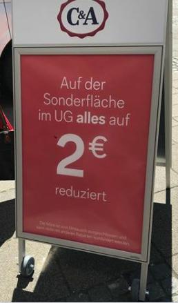 C&A duitsland sale alles voor €2