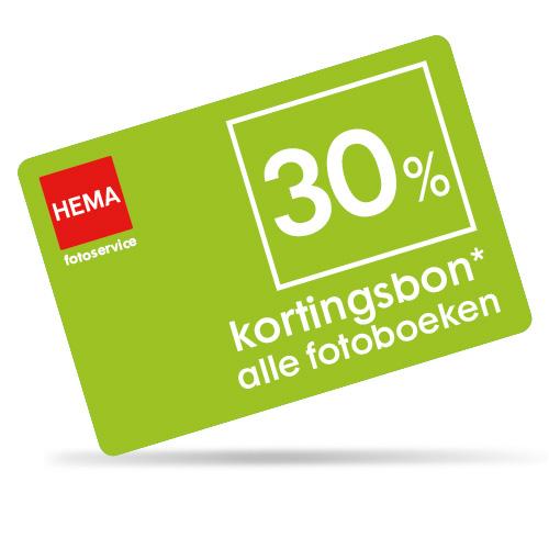 HEMA kortingsbon voor 30% korting op alle fotoboeken