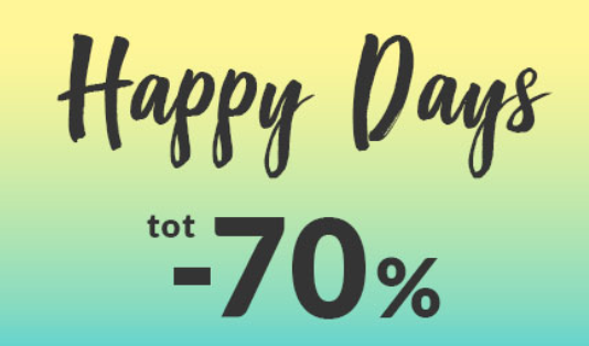 Happy Days met kortingen tot 70%