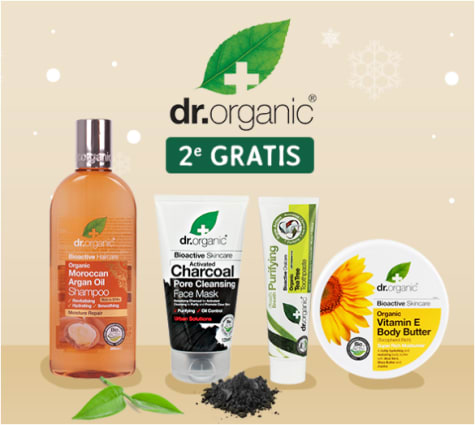 dr. Organic producten 1+1 Gratis