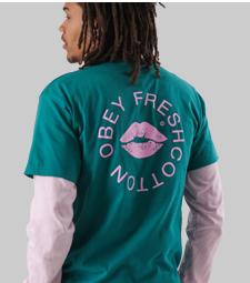 OBEY x FreshCotton tee Gratis bij je bestelling
