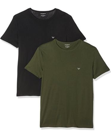 Emporio Armani 2 heren pyjama shirts voor €18,73