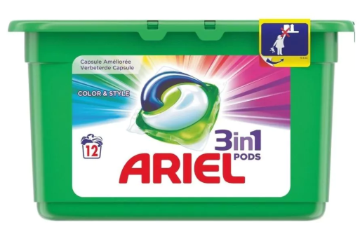 Ariel Color & Style 3-in-1 Pods 12 capsules voor €2,49