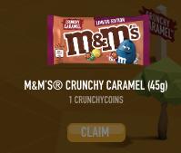 Maak kans op Gratis M&M crunchy caramel