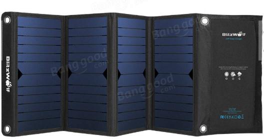 BlitzWolf 28W 3.8A Sunmacht Opvouwbare Solar oplader voor €47,71