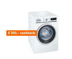 Siemens wasmachines tot €100 cashback