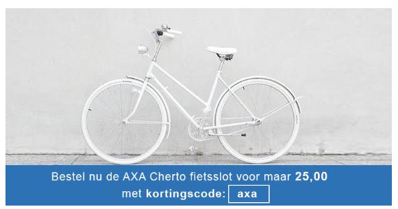 Bestel het AXA Cherto fietsslot 2 voor 25 euro