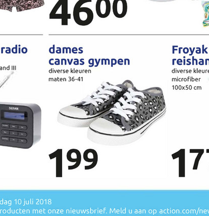 Gympen in 4 verschillende modellen voor €1,99