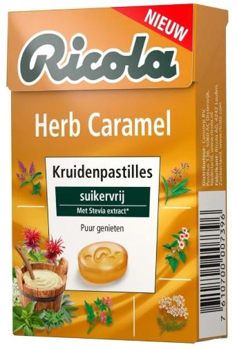 Bij aankoop van twee Ricola Suikervrij Lemonmint Gratis Ricola Herb Caramel en Gratis verzending