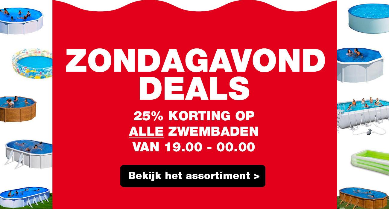 Zondagavond Deal: 25% korting op alle zwembaden