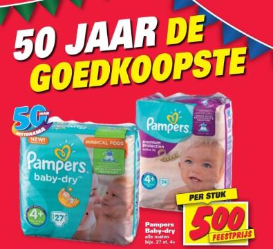 Diverse Pampers voor €5