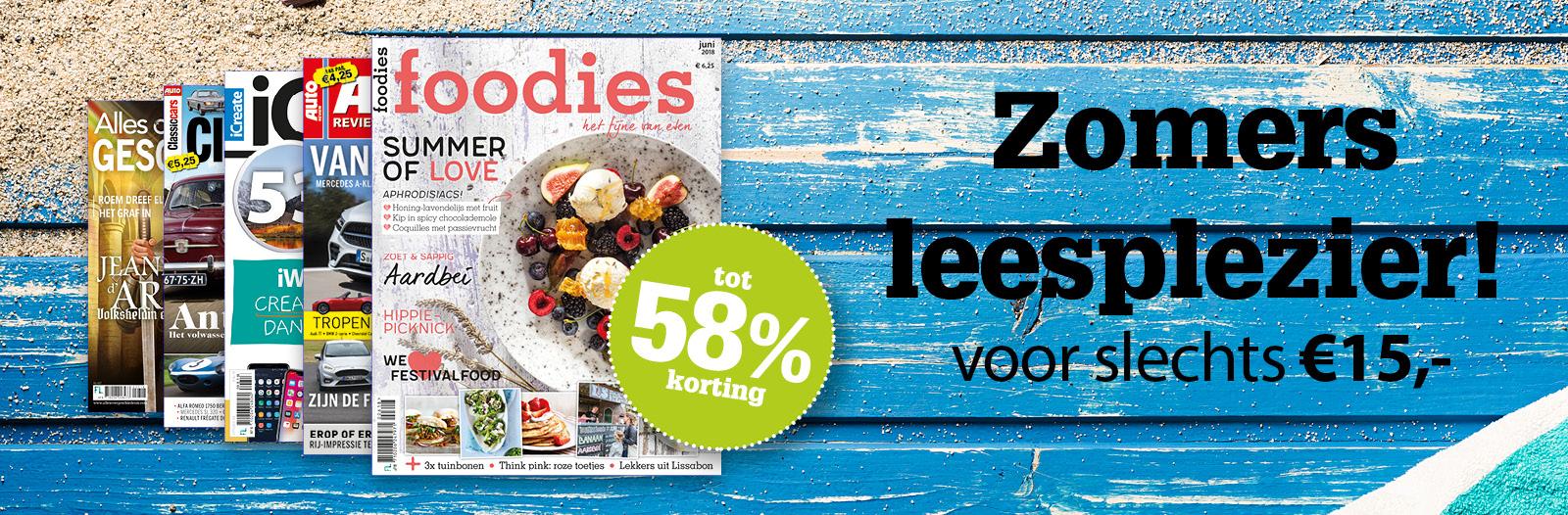 Diverse abonnementen op magazines voor €15