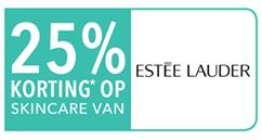 Op diverse skincare artikelen van Estée Lauder 25% korting