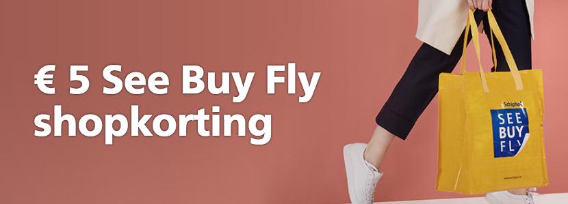 Voucher voor €5 korting bij See Buy Fly