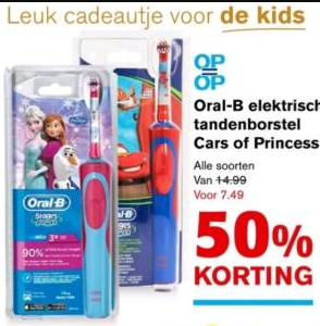 Oral-b elektrische tandenborstel stages power - frozen of cars voor €7,49