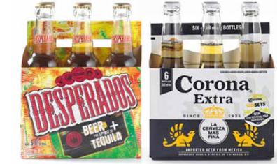 Corona, Desporado en andere soorten bier 1+1 gratis