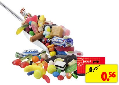 100 gram schepsnoep voor €0,56