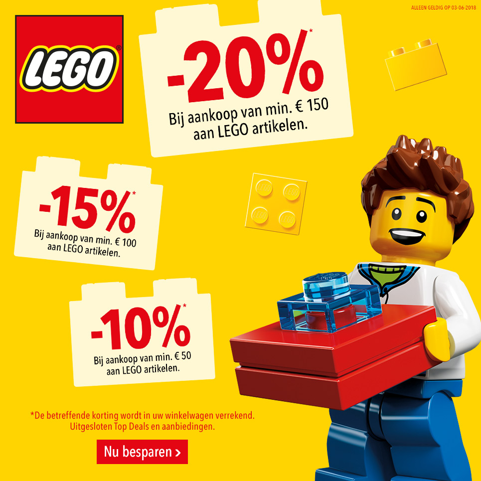 """Lego bij Lego bij Toys""""R""""us tot 20% kortingtot 20% korting"""