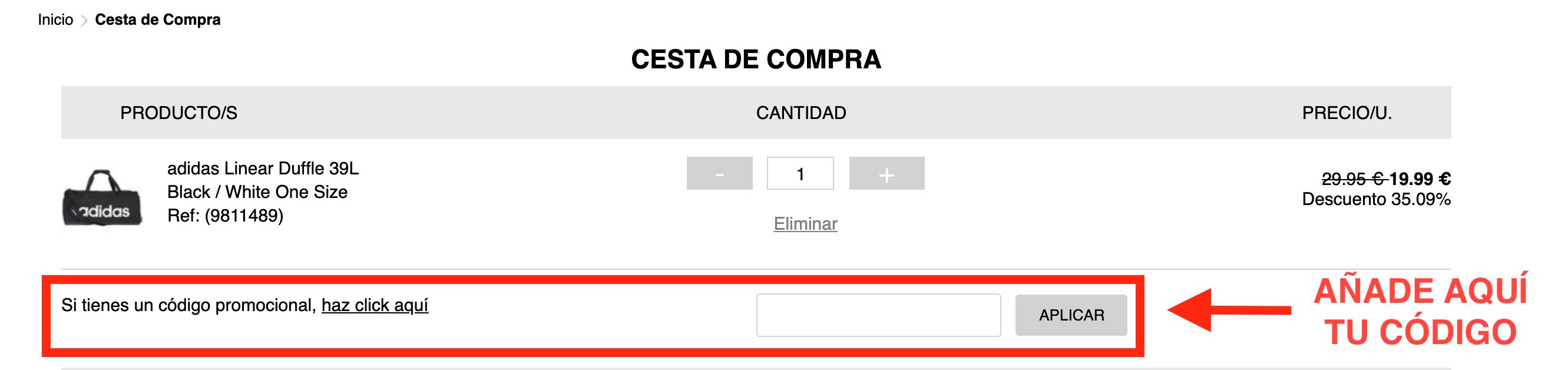 Altoparlante Unir romántico  financiero erupción Bloquear codigo promocional adidas julio 2018 - acopo.es