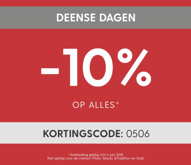 10% korting op alles bij Scandinaviandesigncenter