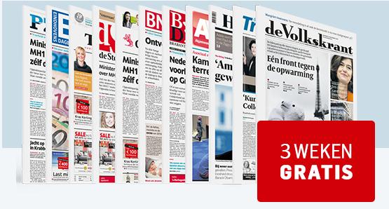 Ontvang nu 3 weken gratis de krant