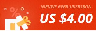 Nieuwe gebruikers €3,42 korting