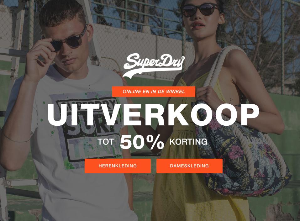 50% korting in de uitverkoop bij Superdry