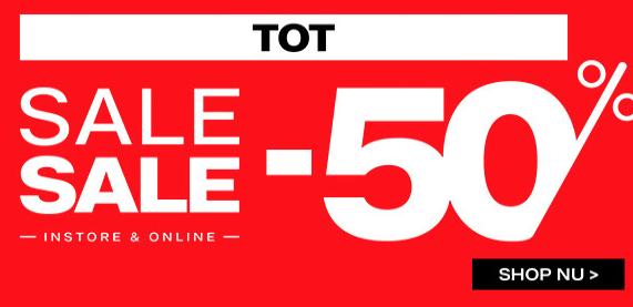 Sale tot 50% korting