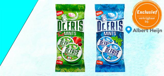 Dr. FRIS: Mints & Fruitmints van €3,50* voor €1  dmv cashback alleen bij AH