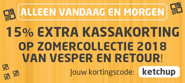 15% extra korting dmv code ook op de sale tot 60% korting