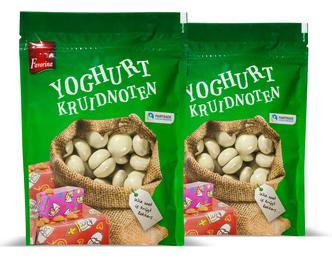 spelt- en yoghurtkruidnoten 1+1 gratis
