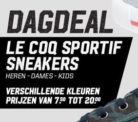 Dagdeal Sneakers vanaf €6,75 dmv code